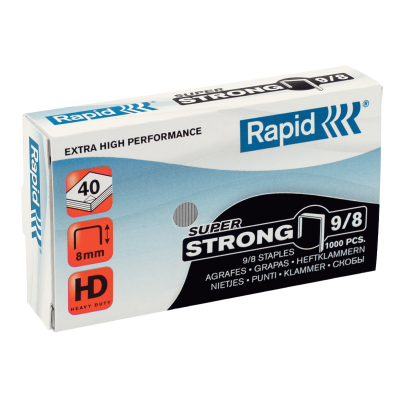 Скобы Rapid SuperStrong 9/8 (1000 скоб)