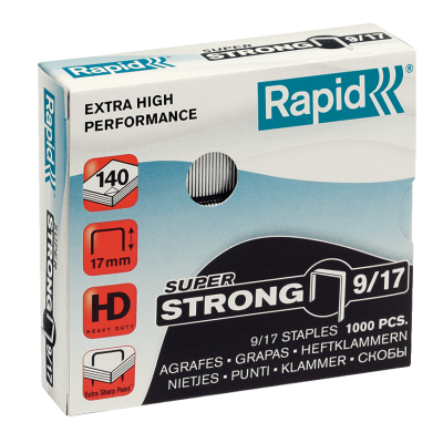 Скобы Rapid SuperStrong 9/17 (1000 скоб)