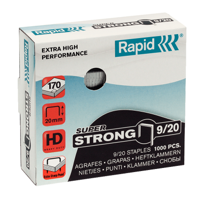 Скобы Rapid SuperStrong 9/20 (1000 скоб)
