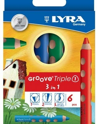 Карандаши LYRA GROOVE Triple One, 10 мм